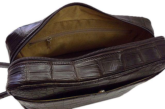メンズセカンドバッグ・クロコダイル