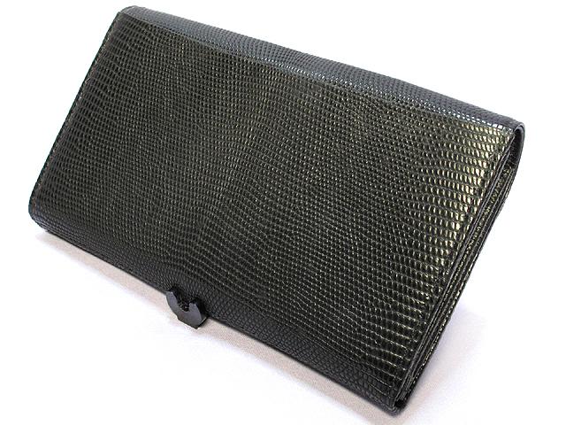 リザード長財布(黒)・山高レディース