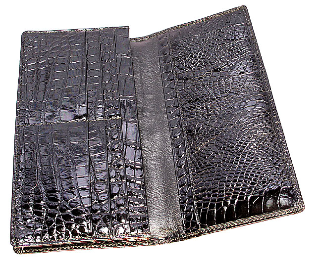 クロコダイル・ポロサス長財布