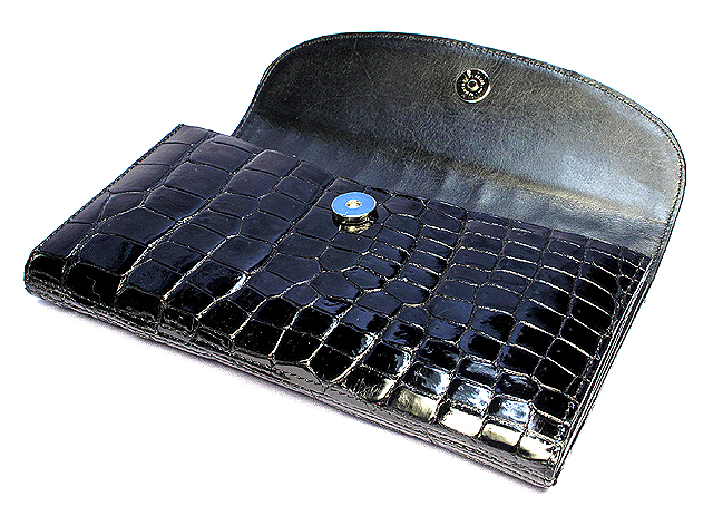 クロコダイル長財布(黒)