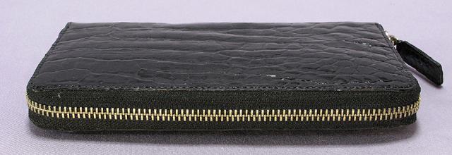 クロコダイル長財布ファスナー(黒)