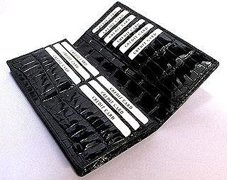 クロコダイル長財布ポロサス(クレージング)