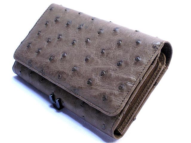 オーストリッチ長財布