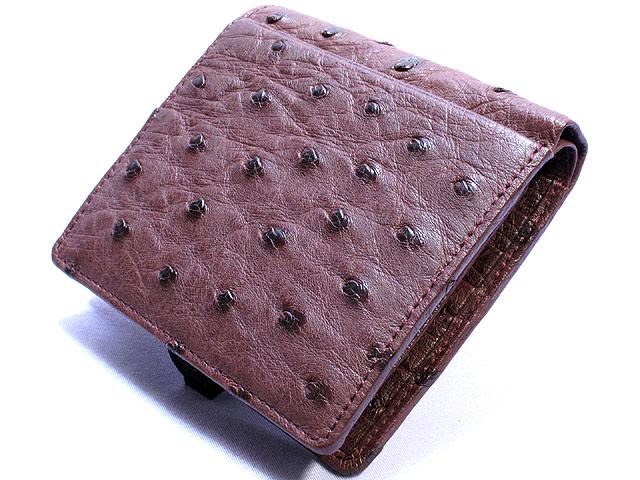 オーストリッチ・二つ折り財布