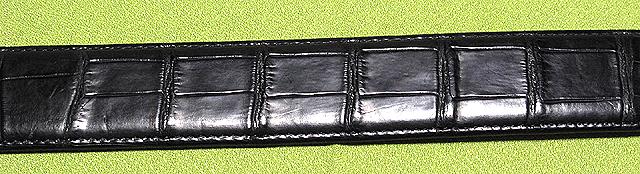 クロコダイル・メンズベルト(黒)