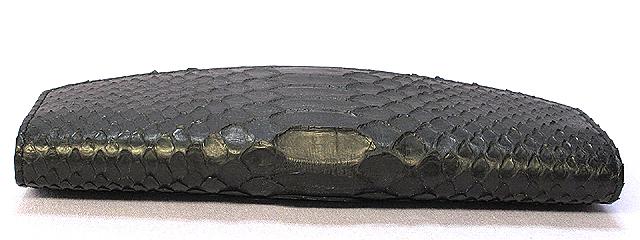 パイソン長財布(黒)