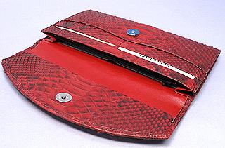 パイソン長財布(赤)