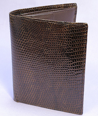 リザード折り財布(チャ)