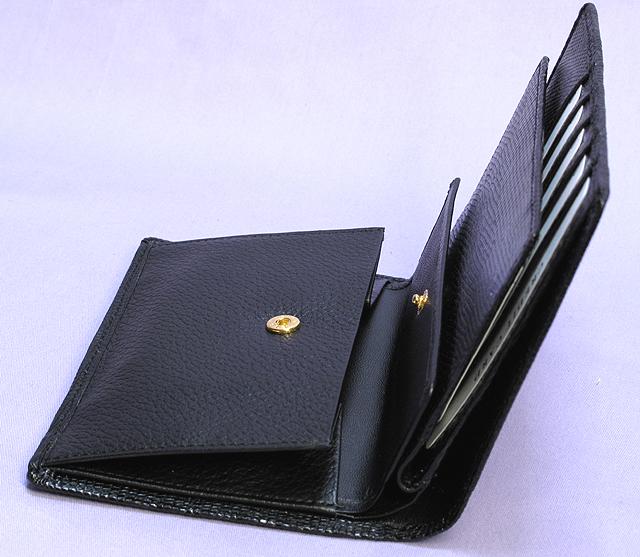 リザード折り財布(クロ)