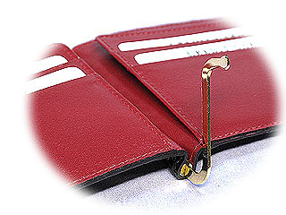二つ折りポロサス革カードケース