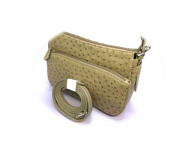オーストリッチ・Genuine Ostrich Leather
