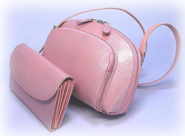 リザード革・ポーチバッグ&財布
