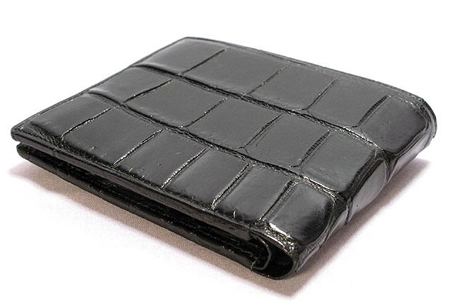 クロコダイル革二つ折り財布・WCD