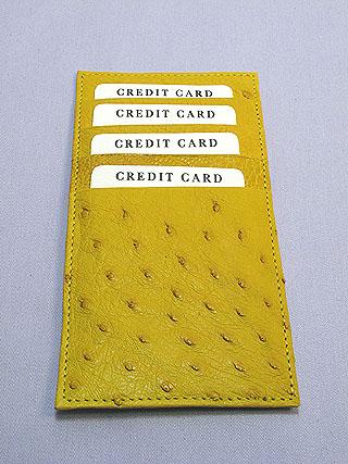 オーストリッチ長財布(カード差し)